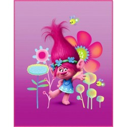 Trolls Poppy Fleeceblanket Huopa Fleece 110 x 140cm Pink/Purple