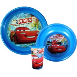 3-Pack Cars Dinner set Plastic