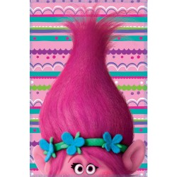 Trolls Fleeceblanket Huopa Fleece 100 x 140cm Pink/Purple