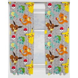Pokemon Go Catch Character Ready Made Curtains 168cm x 183cm