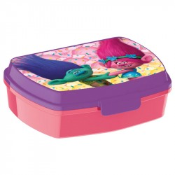 Trolls lunch box Pink/Purple