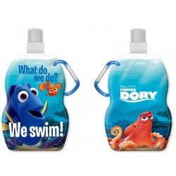 Finding Dory flexible foldable water bottle with a carabiner 500ml