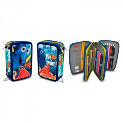 43-pieces Finding Dory Deluxe Triple School Set 3D Pencil Case