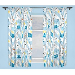 Frozen Olaf I'M Cool Verhot Ready Made Curtains 168cm x 183cm