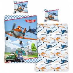 Disney Aircraft Duvet Cover Bed Set 140x200 + 60 x 63cm