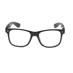 Fancy Dress Black Geek Style Plastic Glasses without Lenses