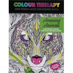 Colour Therapy, Amazing Animals, Anti-Stress Coloring Book