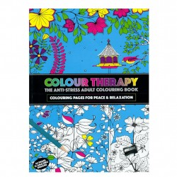 Colour Therapy Anti-Stress Målarbok 64s, Relax, Avslappning 384032 CT Målarbok PMS 99,00 kr product_reduction_percent