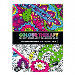 Colour Therapy Anti-Stress Coloring Book, Relax, Meditation