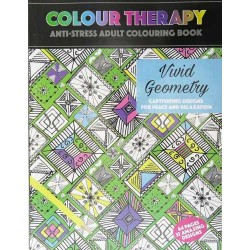 Colour Therapy, Vivid Geometry, Anti-Stress Coloring Book
