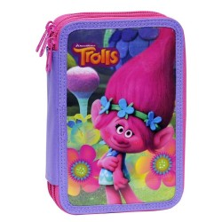 43-pieces Trolls Deluxe Triple School Set 3D Pencil Case