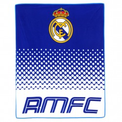 Real Madrid Fade Fleeceblanket Plaid Fleece 125 x 150 cm