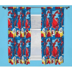 Spiderman Character Ready Made Curtains 168cm x 183cm
