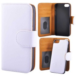 Wallet Case With Removable Magnetic Back Cover iPhone 5/5s/SE White