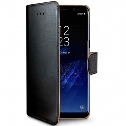 Celly Wallet Case Galaxy S8+ Sv/be
