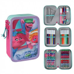 Trolls Deluxe 43-delt 3D Pen Shrine Triple Schooled Pennset Pink