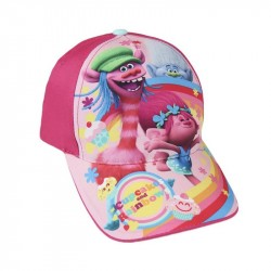 Trolls Cap Poppy Cooper & Guy Diamond Cupcakes & Rainbows Pink