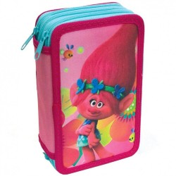 43-pieces Trolls Triple School Set 3D Pencil Case