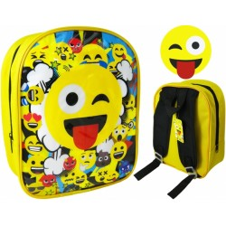 Emoji Backpack School Bag Reppu Laukku 26cm x 20cm x 10cm
