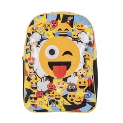 Emoji Backpack School Bag Reppu Laukku 42cm x 30cm x 12cm