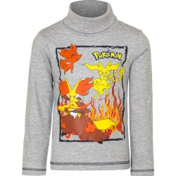 Pokemon Langærmet, Turtleneck Sweater / T-Shirt Grå.