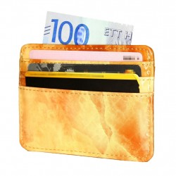 TOPPEN Card Holder Super Slim ID pocket Fashion Wallet Marble Orange
