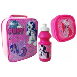 My Little Pony Bag with lunch box and water bottle