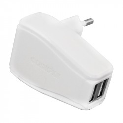 Champion Dual USB Charger 230V 2A WHITE
