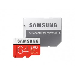 SAMSUNG MICRO SDXC EVO PLUS 64 GB KLASSE 10 W / SD ADAPTER