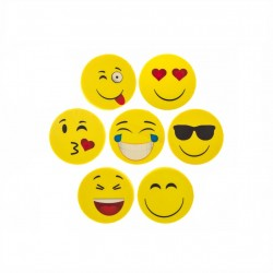 Emoji Eraser 4-Pack School Fun