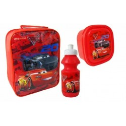 Cars Lightning McQueen Bag with lunch box and water bottle