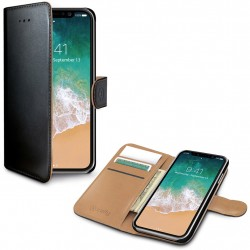 Celly Wallet Case iPhone X/Xs Black/Beige