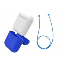 Airpod Silicone Case + Headphones Straps & Wrist Strap Apple Blue