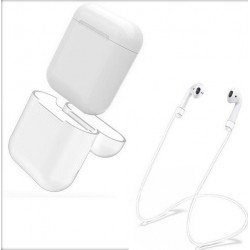 Airpod Silicone Case + Headphones Straps & Wrist Strap Apple White