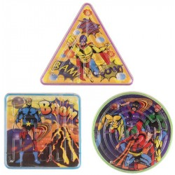 3-Pack Super Hero Mini Maze Puzzles