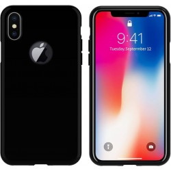 Colorfone Soft Exclusive TPU Cover til iPhone X / Xs Klaver-sort 1,2 mm