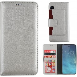 Colorfone Wallet Case for Apple iPhone X/Xs Silver