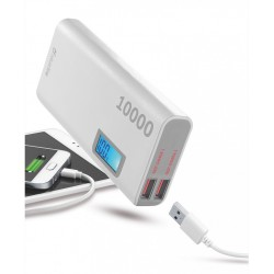 Cellularline Hi-Perf. Power Bank 10000mAh Battery Charger White