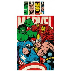 Marvel Avengers Comics Duvet Cover Bed Vendbar 135x200 + 48x74cm