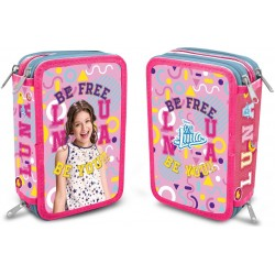 Disney Soy Luna Enjoy Love Triple school set, 43-pieces, Yellow & Pink