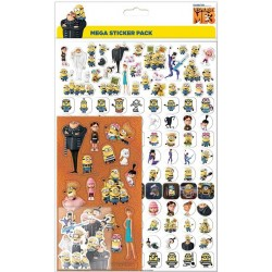 Minions Mega Stickers Pack 150pcs Fun Foiled Re-usable