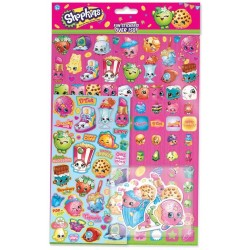 Shopkins Mega Stickers Pack 150pcs Fun Foiled Re-usable Tarroja