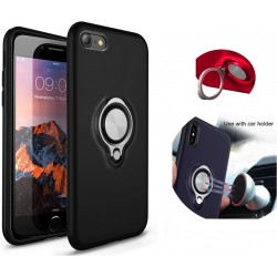 Colorfone BackCover Ring Apple iPhone 8/iPhone 7 Black Suojakuori