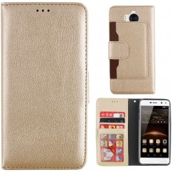 Colorfone Wallet Case for Huawei Y6 2017/Y5 2017 GOLD