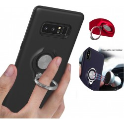 Samsung Galaxy Note 8 Case Svart Skal Med Ring och Metallplatta Black Colorfone 149,00 kr product_reduction_percent