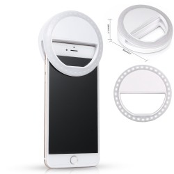 Selfie Ring Foto Led Light Lamp Flashlight White