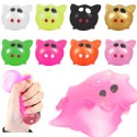 4-Pack Sticky Pig Splat Ball Squeeze Toy Slime Stress Fun Prank