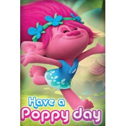 Trolls Have a Poppy Day fleeceblanket 150 x 100cm