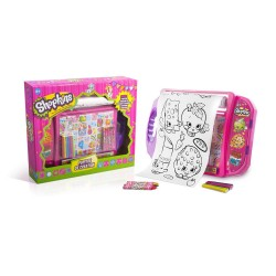 Shopkins Creativity Doodle Desk Writing Drawing Colouring In Girls Toy