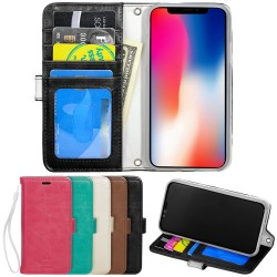 TOPPEN iPhone X/Xs Wallet Case ID pocket